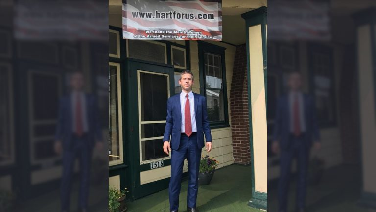 Kris Hart says he won't run for governor in Pennsylvania, but will consider other options — including a U.S. Senate campaign.(Kris Hart photo)