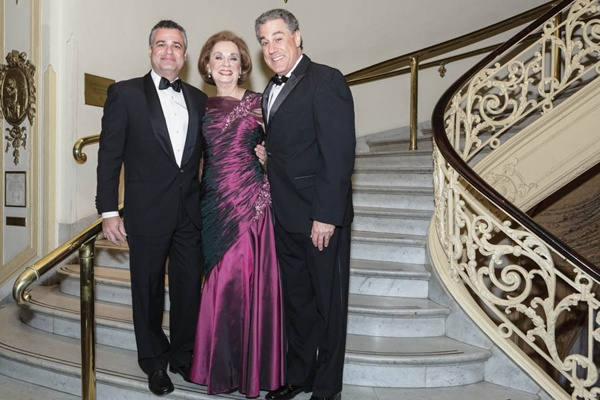 <p><p>Harvest Ball honoree Ann S. Waldman with her sons (from left), Glen and Kenneth (Photo courtesy of Jeff Price)</p></p>