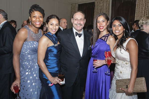 <p><p>Dr. Mark Frisch, Department of OB/GYN (center), with OB/GYN residents (from left) Drs. Nwamaka Onwugbenu, Laura Martin, Jenifer Dinis-Ballestas, and Aroti Achari (Photo courtesy of Jeff Price)</p></p>