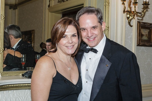 <p><p>Cosme Manzarbeitia, MD, Department of Surgery,Einstein Medical Center Montgomery, and his wife Joanne (Photo courtesy of Jeff Price)</p></p>