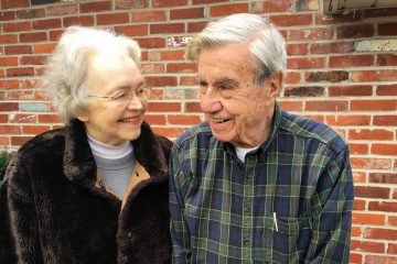 Marylou Kelly Streznewski and her husband, Thomas. (Elana Gordon/WHYY)