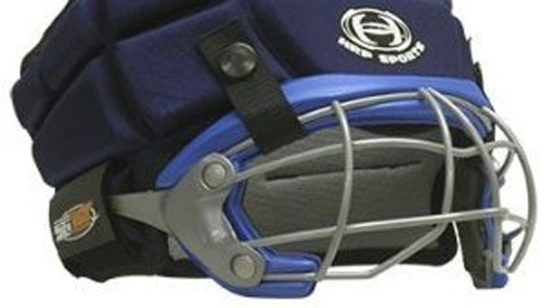 The SG360 model will be mandated in Princeton schools for women's lacrosse and field hockey. The soccer headgear is less helmet-like. (Photo courtesy of HRP Products, Inc.)