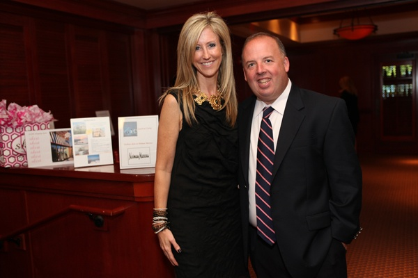<p><p>Helpusadopt.org co-founder and executive director Becky Fawcett and Pat English, operating partner of Fleming's Prime Steakhouse & Wine Bar of Radnor, where the Helpusadopt.org benefit was held Oct. 1. (Photo courtesy of Beth Erisman)</p></p>