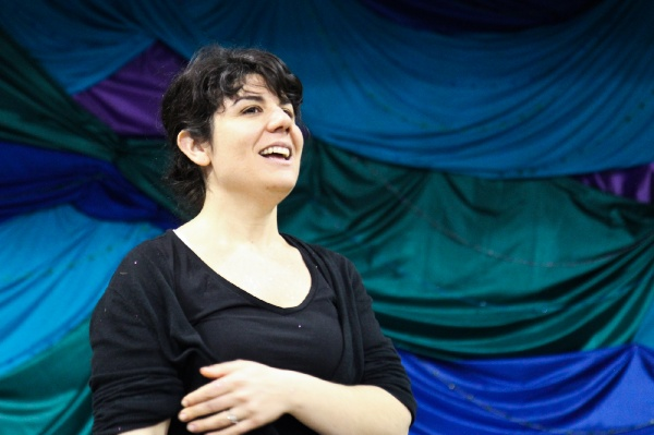 <p>Henry's music teacher Nicole Paulino directed The Little Mermaid and designed the costumes and sets. (Kimberly Paynter/for NewsWorks)</p>