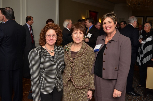 <p><p>Aileen Whitman (left), National Liberty Museum Board Member, Barbara Sivan, and National Liberty Museum CEO Gwen Borowsky (Photo courtesy of Tim Evans)</p></p>
