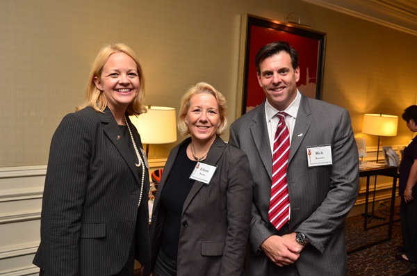 <p><p>Ann Aerts (left), Eileen Perrin, and Rick Bennett, all of PricewaterhouseCoopers (Photo courtesy of Tim Evans)</p></p>