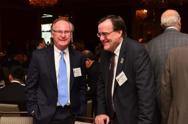 <p><p>John Mahony (left) and Robert Beatty, dean of Rowan University's Rohrer College of Business (Photo courtesy of Tim Evans)</p></p>