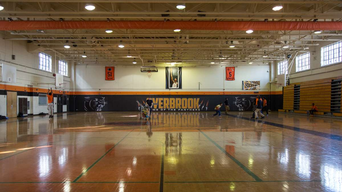 The main gymnasium at Overbrook High School. (Emily Cohen for NewsWorks)