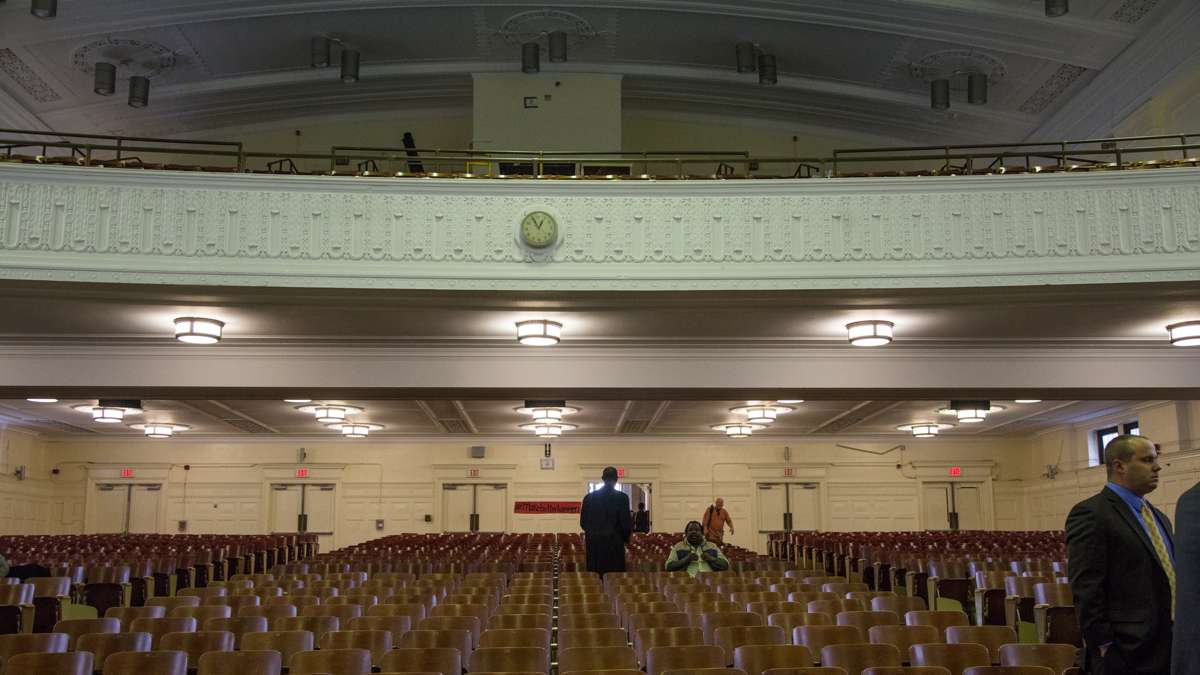 The auditorium at Overbrook High School in Philadelphia. (Emily Cohen for NewsWorks)