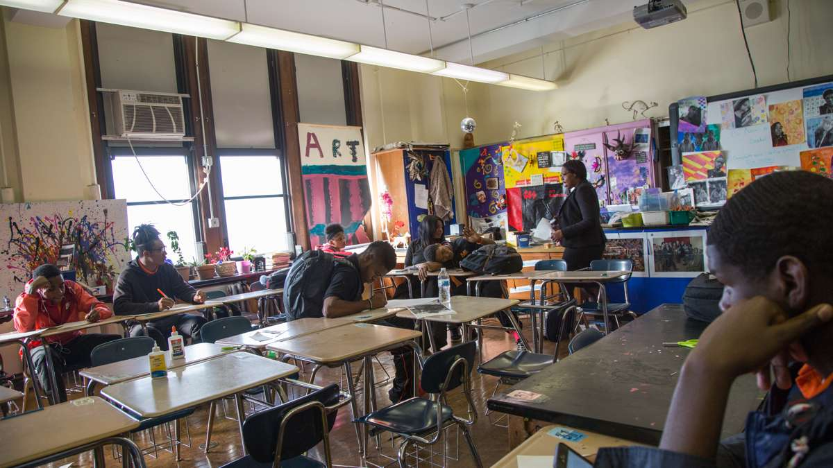 Overbrook High School no longer has a music program and now has only one arts classroom for its nearly 600 students. (Emily Cohen for NewsWorks)