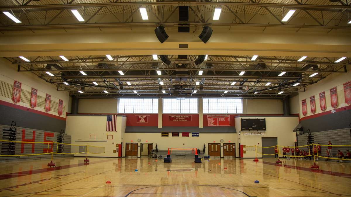 The main gymnasium at Upper Dublin High School. (Emily Cohen for NewsWorks)