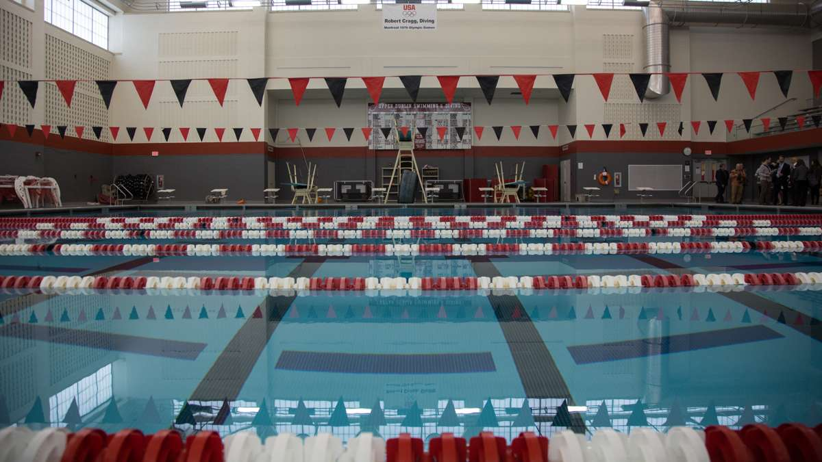 The aquatic facility at Upper Dublin High School is nationally ranked for its quality. (Emily Cohen for NewsWorks)