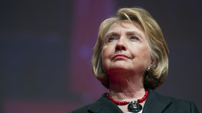 Former Secretary of State Hillary Rodham Clinton addresses the 51st Delta Sigma Theta National Convention in Washington, Tuesday, July 16, 2013.  (AP Photo/Cliff Owen)