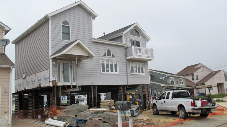 One homeowner in Brick Township has already decided to elevate a house that was damaged by Sandy's storm surge. (Phil Gregory/for NewsWorks)