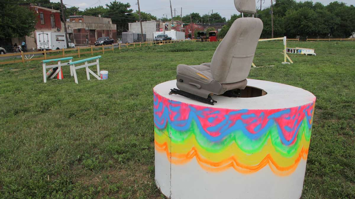 The horse tuning will include a variety of events using makeshift obstacles. (Emma Lee/WHYY)