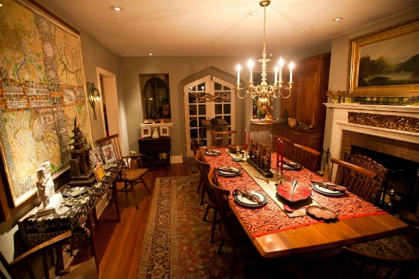 <p><p>The dining room of a home that was open for the in Chestnut Hill Holiday House Tour. (Brad Larrison/for NewsWorks)</p></p>