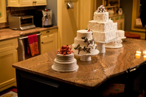 <p><p>Cakes on the table at a home that was open to the public for the Chestnut Hill Holiday House Tour. (Brad Larrison/for NewsWorks)</p></p>