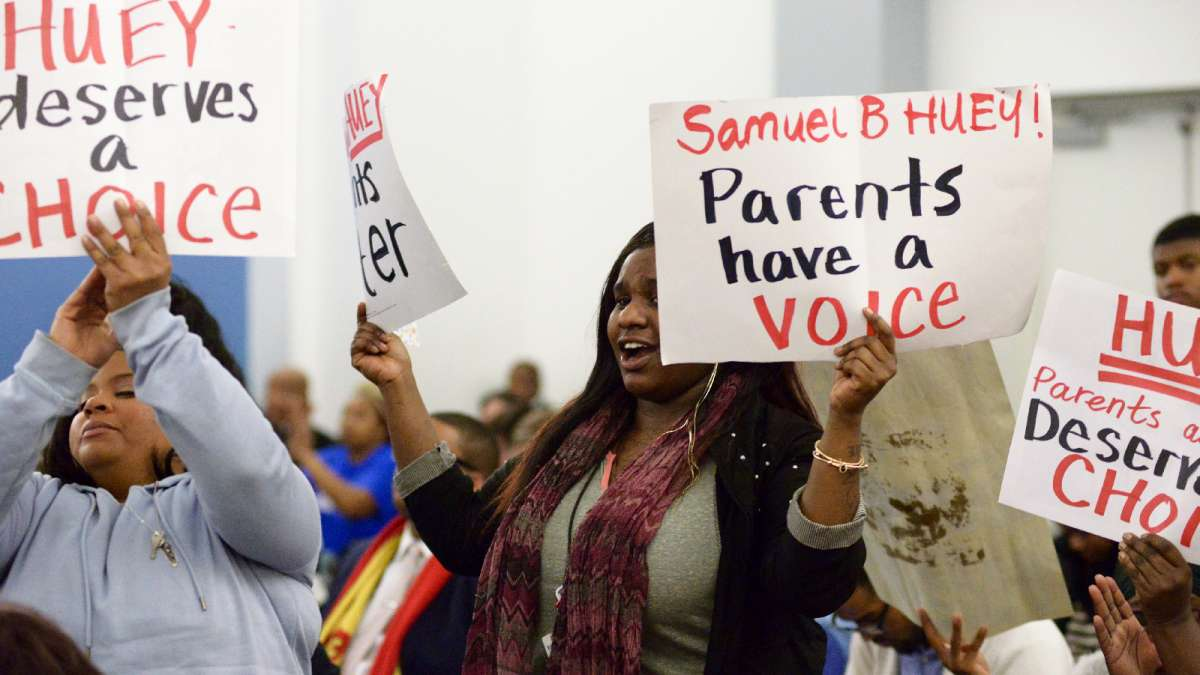 Scenes from Thursday's SRC meeting at the School District headquarters on North Broad St. (Bastiaan Slabbers for WHYY)