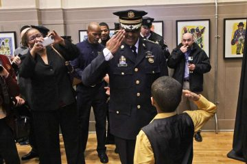 Officers such as Philadelphia Police Commissioner Richard Ross are among the most highly regarded professionals in the U.S., according to Gallup polling. (Kimberly Paynter/WHYY)