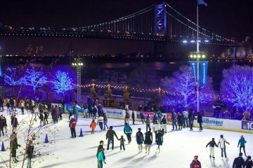 RiverRink on the Delaware River waterfront. (Brad Larrison for WHYY)