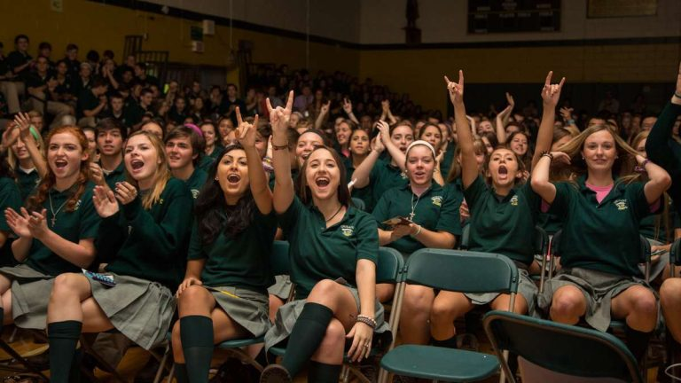 Students at Lansdale Catholic High School in a 2017 file photo. (Emily Cohen/for NewsWorks)