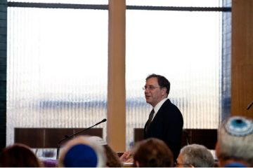 Rabbi Adam Zeff of Germantown Jewish Centre. (Brad Larrison for WHYY)