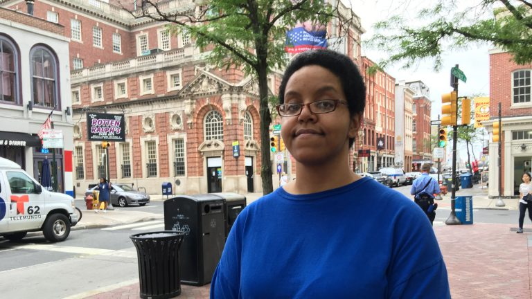 Adrianne Gunter receives treatment for her multiple sclerosis through Medicaid. She fears the proposed GOP health care bill will limit her ability to receive treatment. (Liz Tung/WHYY)