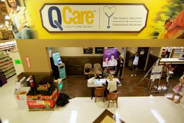 The QCare clinic at the ShopRite on Fox Street now offers free and anonymous mental health screenings. (Nathaniel Hamilton/for NewsWorks)