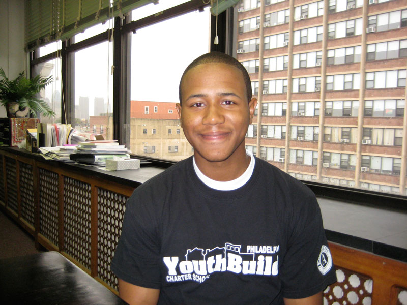 Gregory Jefferies, YouthBuild student