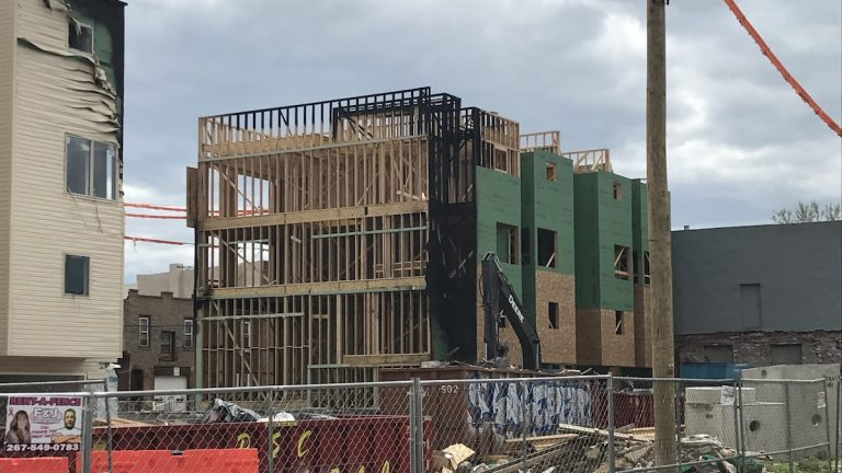 The developer of the building in South Philadelphia's Point Breeze neighborhood says the arson caused millions of dollars in damage.(Bobby Allyn / WHYY)