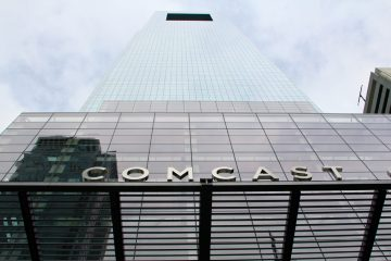 The Comcast Center is a dominant element in Philadelphia's skyline. Comcast plans to build a taller skyscraper in Center City. (Emma Lee/for NewsWorks)