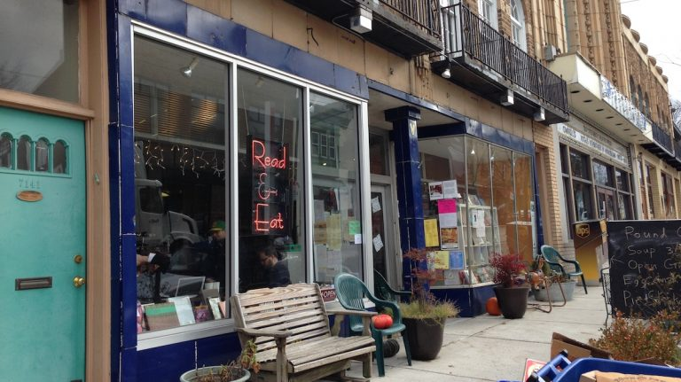 Less than six months after Read and Eat opened on Germantown Avenue, owner Jake Sudderth is branching out to open a noodle house on the same block. (Neema Roshania/WHYY)