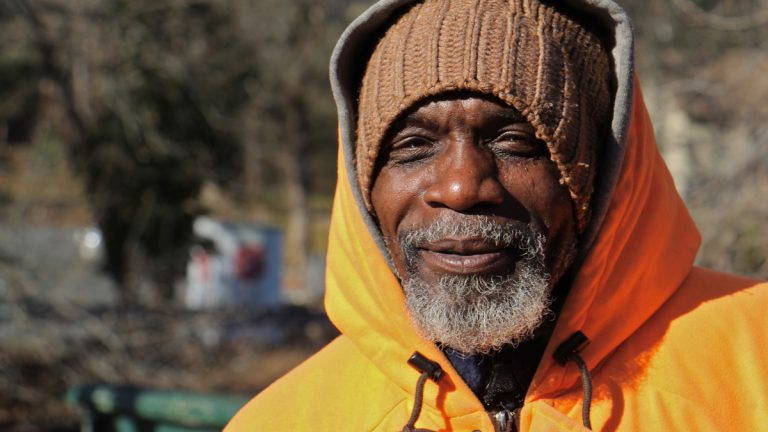 Michael Carter, a homeless veteran in Bridgeton, N.J., says he sometimes finds shelter in abandoned homes. (Emma Lee/WHYY)
