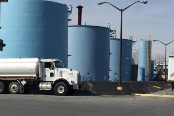Delaware environmental regulators issued a cease and desist order Monday against the former International Petroleum Corp.' facility in Wilmington for transporting hazardous wastes. (Cris Barrish/WHYY)