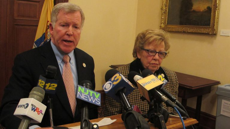 New Jersey Sens. Bob Gordon and Loretta Weinberg say lawmakers will try again to override a Gov. Chris Christie veto, this time on measures for stronger regulation of the Port Authority of New York and New Jersey. (Phil Gregory/WHYY)