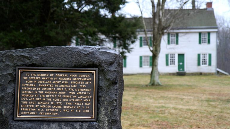 Princeton Battlefield State Park preserves the Clark House, where American General Hugh Mercer died of his wounds. (Emma Lee/for NewsWorks)