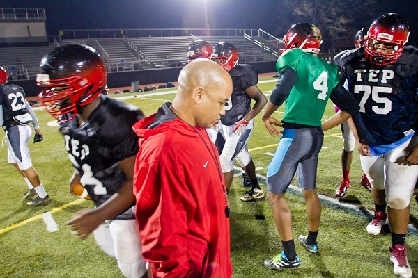 <p><p>First-year head coach Albie Crosby said that between the successes of Imhotep and the Northwest Raiders youth programs, Northwest Philly has evolved into a football Mecca of late. (Brad Larrison/For NewsWorks)</p></p>