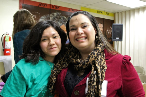 <p>Olivia Vasquez (left) and Erika Almiron, are members of the Philadelphia based group JUNTOS. The group is planning a memorial to the deported on Feb. 12 and will join a mass mobilization in Washington, DC, on April 4. (Emma Lee/for NewsWorks)</p>
