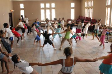 Children participate in Indigenous Pitch Dance Collective's first dance camp in New Orleans in 2007. This year marks the seventh time the group has visited New Orleans. (Image courtesy of Indigenous Pitch Dance Collective)