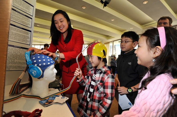 "<p><p class=""p1"">Angela Wang at Public Day. (Courtesy of Society for Science & the Public)</p></p>"