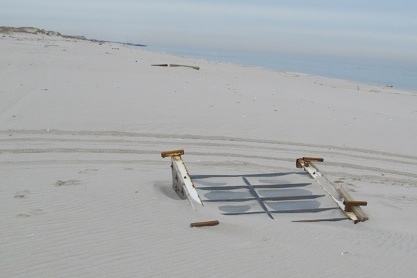 <p>&lt;p&gt;One of the cars from the destroyed roller coaster in Seaside Heights is buried in the sand at Island Beach State Park. (Phil Gregory/for NewsWorks)&lt;/p&gt;</p>