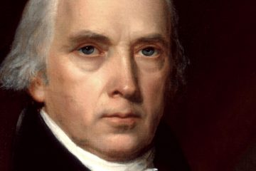 John Vanderlyn's portrait of James Madison, fourth president of the United States, hangs in the White House.