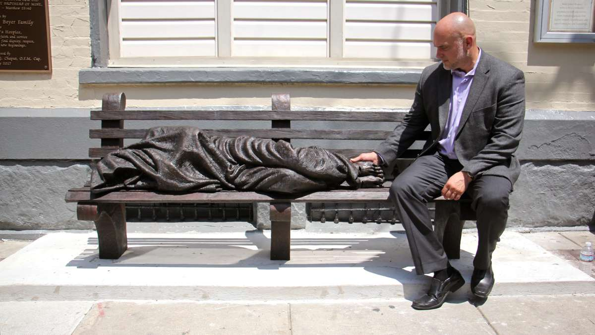 In Philadelphia Homeless Jesus Sculpture Embodies