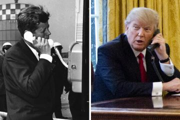 President John F. Kennedy, c. 1962 and President Donald Trump, c. 2017 ( (stf and Manuel Balce Ceneta/AP Photos)