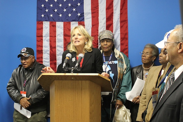 <p>&lt;p&gt;&quot;We can't do this by ourselves,&quot; Jill Biden tells campaign volunteers in West Oak Lane of getting-out-the-vote for the president and vice president in Tuesday's election. (Matthew Grady/for NewsWorks)&lt;/p&gt;</p>