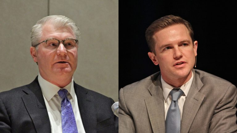 Labor leader John Dougherty may be quiet but powerful backer of Jack O'Neill for Philadelphia district attorney. (Emma Lee/WHYY, file)