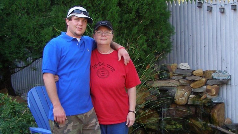Liz Perkins and her son John Perkins, who died from an overdose in 2011. (Image courtesy of the Perkins family.)