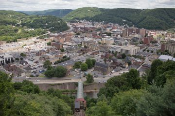 A bird's eye view of Johnstown, Pennsylvania. (Lindsay Lazarski/WHYY)