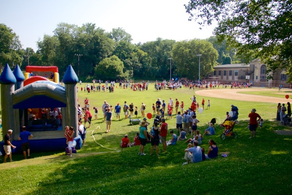 A scene from last year's Fourth of July celebration at Water Town Recreation Center. (Jana Shea/for NewsWorks)