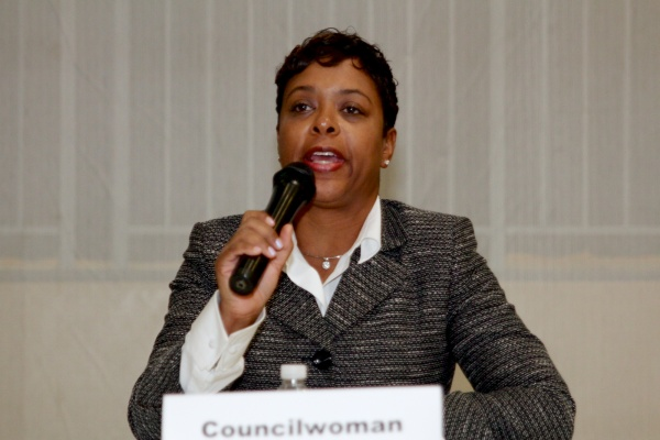 <p>Eighth District City Councilwoman, Cindy Bass is in favor of the Homestead Exemption. ( Jana Shea /for NewsWorks )</p>